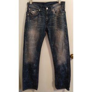 True Religion Straight Super Faded Jeans 33/33